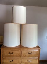 3 Silk lampshades in Schaumburg, Illinois