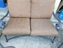 OUTDOOR PATIO LOVESEAT AND CHAIRS SET SIDE TABLES in Conroe, Texas