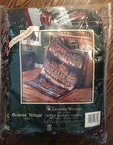 """NEW"" Department 56 Goodwin Weavers Dickens Village Triple Woven Throw- Victoria Station in Joliet, Illinois"