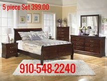 New 5 Piece Cherry Queen Set, still in boxes in Camp Lejeune, North Carolina