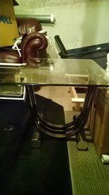 Glass top end table in Naperville, Illinois