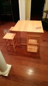 Small Kitchen Island With Two Stools! in Macon, Georgia