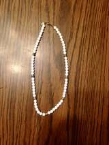 "Short 8"" White & Gold Colored Necklace in Joliet, Illinois"