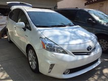 2012 Toyota Prius V, level 5, pearl white, alloy wheels,beige leather, 97K miles in Travis AFB, California