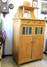 Beautiful Antique Soft wood Chest with mirror & 1 Drawer in Wiesbaden, GE