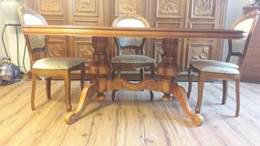 Solid Cherry Table and 4 Chairs in Spangdahlem, Germany