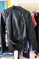 Zara Leather Jacket with belt in Okinawa, Japan