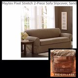 Maytex Pixel Stretch 2 Piece Sofa Slip-on Cover in Okinawa, Japan