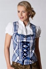 Octoberfest Ready clothes: Women's Austrian-made blouses and vest in Fort Meade, Maryland