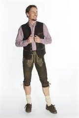 Octoberfest Ready clothes: Men's German-made leather vest in Fort Meade, Maryland