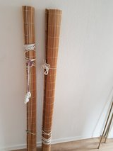 Bamboo curtain rolls in Ramstein, Germany