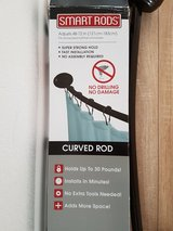 Curved shower rod in Ramstein, Germany