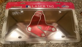 Red Socks Laser license plate in Bel Air, Maryland