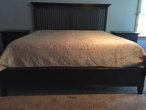 Crate and Barrel - King Size Bedframe in Schaumburg, Illinois