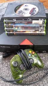 Xbox with games in Fort Leonard Wood, Missouri