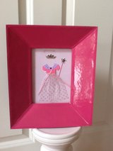 "LIKE NEW! 11"" Tall and BIG PINK Vinyl Picture Frame in Bolingbrook, Illinois"