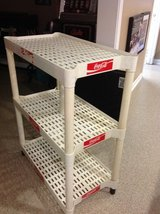 Coke vintage plastic shelving unit in Yorkville, Illinois