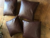 Four faux  leather couch pillows in Alamogordo, New Mexico