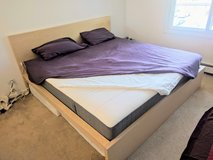 Ikea Malm King Size bed in Schaumburg, Illinois
