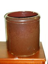 "antique 8""H brown crock in Aurora, Illinois"