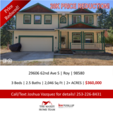 Looking for privacy? Look no further! Home on 2+AC near JBLM! in Fort Lewis, Washington
