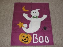 "NEW OUT OF PACKAGE HALLOWEEN ""BOO"" GHOST OUTDOOR INDOOR FLAG in Camp Lejeune, North Carolina"