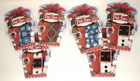 """NEW Lot of 6 Holiday Pot Sox Plant Cover Set 3 x's 6"""" 3 x's 8"""" Fits 5"""" - 9"""" Pots in Morris, Illinois"""