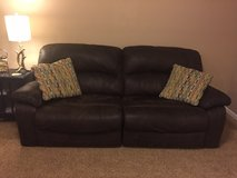 Electric reclining faux aged leather microfiber sofa/ couch in Fort Leonard Wood, Missouri