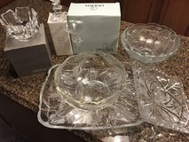 Crystal Platter, Crystal Candle Stickholders, & Crystal Bowls in Bolingbrook, Illinois