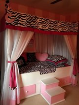 Princess Canopy Trundle Bed in Oceanside, California