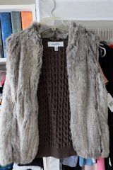 Fur and Knit Fashionable Vest in Okinawa, Japan