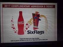 2 general admission six flags tickets in Fort Polk, Louisiana