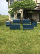 2 twin navy Beds Matching pair of Nightstands. in Morris, Illinois
