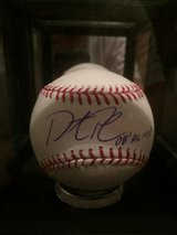 Autographed Dustin Pedroia Baseball in Lackland AFB, Texas