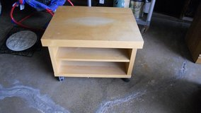 short tv stand with wheels in Sandwich, Illinois
