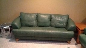 leather couch, loveseat and ottoman in Wheaton, Illinois