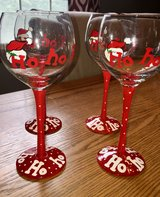 Christmas wine glasses in Plainfield, Illinois