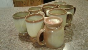 Set of 8 Frankoma mugs in Fort Polk, Louisiana