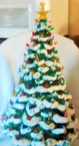 """Beautiful  Vintage 21"""" Ceramic Tree Christmas  with 114 lights and stand in Alamogordo, New Mexico"""