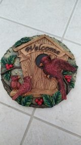 Welcome cardinal plaque in New Lenox, Illinois