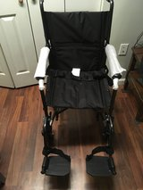 "NEW DRIVE MEDICAL LIGHTWEIGHT STEEL TRANSPORT WHEELCHAIR, FIXED FULL ARMS, 19"" SEAT in Fort Knox, Kentucky"
