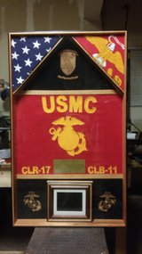shadow  box with guidon/ digital photo album in Camp Pendleton, California