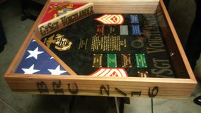 shadow box/ going away or retirements in Camp Pendleton, California