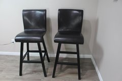 Pair of Leather Barstools in CyFair, Texas