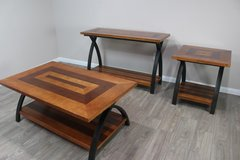 Set of 3 Tables - Coffee Table, Side Table and Sofa Table in CyFair, Texas