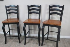 Set of Barstools (Solid Wood) in Spring, Texas