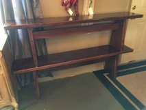 "2 all wood bench 18""tall 5ft long 11"" wide very heavy in Conroe, Texas"