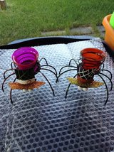 Spiders candle holders in Shorewood, Illinois