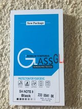 Galaxy Note 8 Tempered Glass  black in Hinesville, Georgia