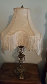 Tall Anitque Lamp with Long fringe Lampshade in Elizabethtown, Kentucky